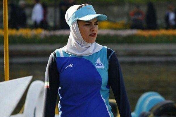بانوی قایقران آذربایجان شرقی در مسابقات آسیایی پارو می زند