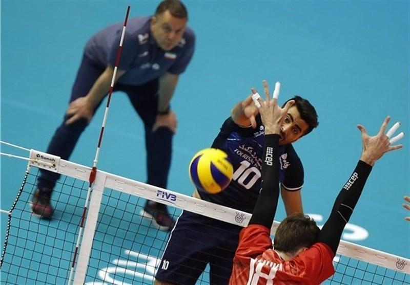 والیبال انتخابی المپیک، غفور؛ امتیازآورترین بازیکن ایران مقابل روسیه