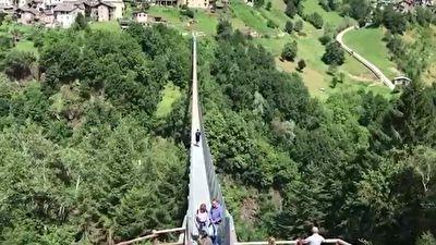 گزارش موبایلی حمید معصومی نژاد از مرتفع ترین پل معلق اروپا