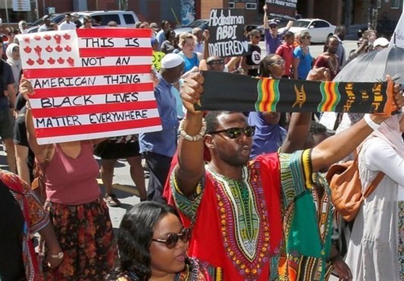 قتل سیاه پوستان توسط پلیس این بار در کانادا، تظاهرات مردمی علیه نژادپرستی