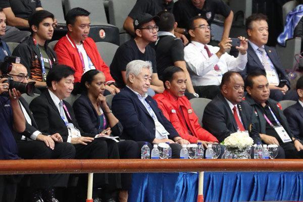 رئیس جمهور اندونزی در سالن ووشو