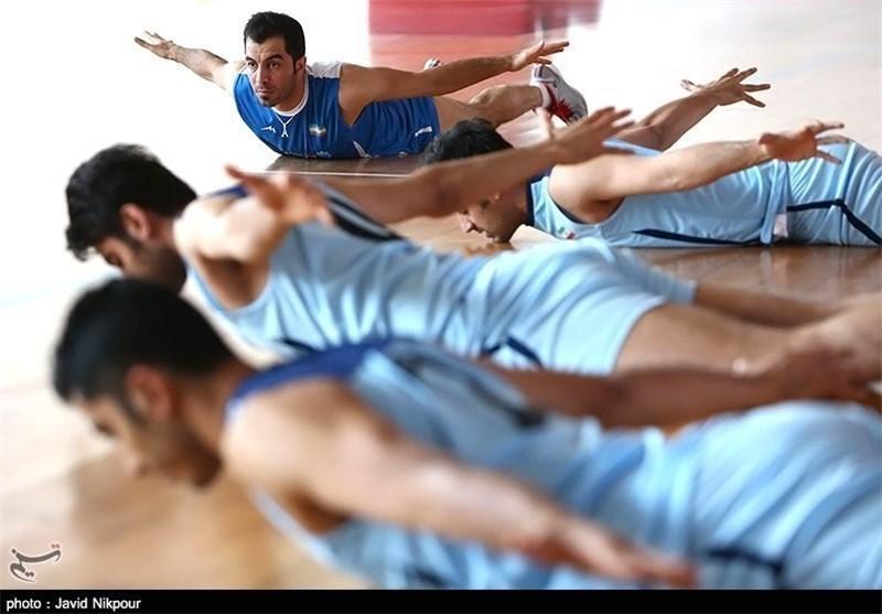 تمرین تیم ملی والیبال در آستانه دیدار با ایتالیا