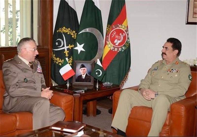 همکاری های نظامی پاکستان و ایتالیا گسترش می یابد