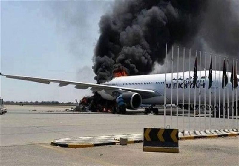 حمله موشکی ارتش خلیفه حفتر به فرودگاهی در طرابلس