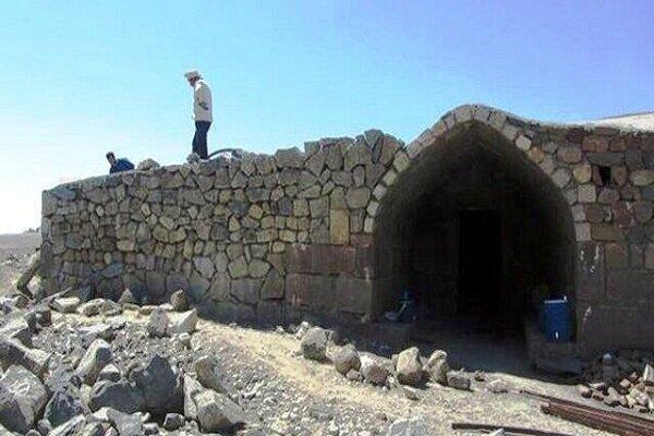 تکمیل بازسازی کاروانسرای تاریخی روستای ایری ورزقان