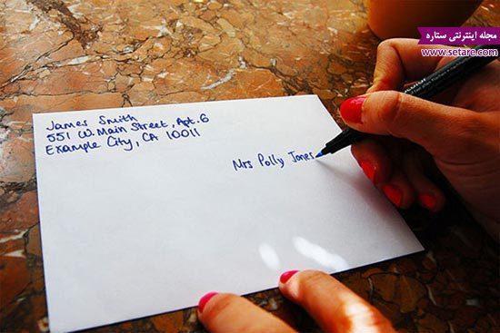 نحوه نوشتن آدرس به انگلیسی