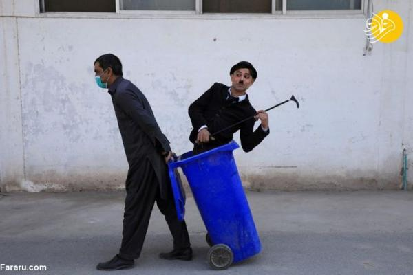 (تصاویر) چارلی چاپلین پاکستان مشهور شد!