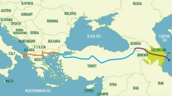 صادرات گاز جمهوری آذربایجان به بلغارستان