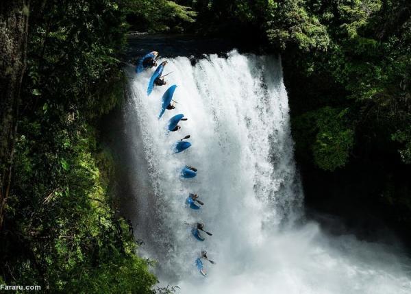 (ویدئو) ماجراجویی دلهره آور با قایق کایاک روی کوه آتشفشان