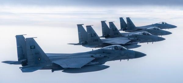 استقرار جنگنده های اف-18 آمریکا در عربستان